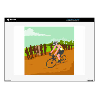 """Cyclist Racing WPA Decals For 15"""" Laptops"""