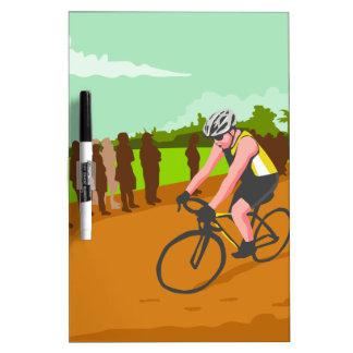Cyclist Racing WPA Dry Erase Board