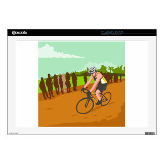 Cyclist Racing WPA Laptop Skin