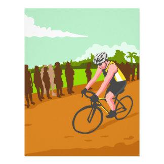 Cyclist Racing WPA Letterhead