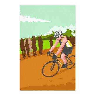 Cyclist Racing WPA Stationery