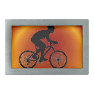 Cyclist Rectangular Belt Buckle