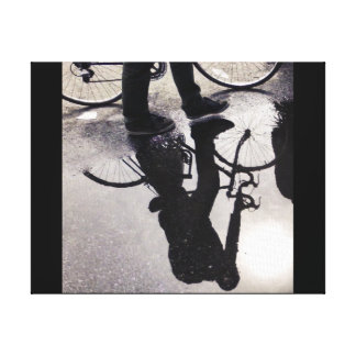 Cyclist Reflection in Brooklyn Canvas Print