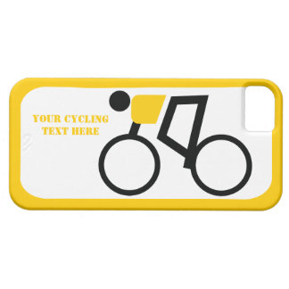 Cyclist riding his bicycle custom iPhone 5 case