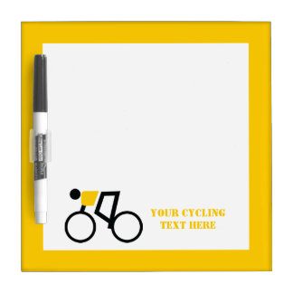 Cyclist riding his bicycle custom Dry-Erase board