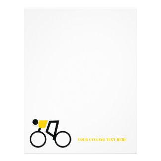 Cyclist riding his bicycle custom letterhead