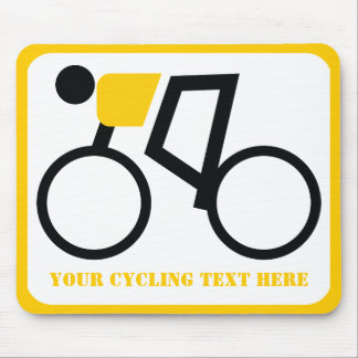 Cyclist riding his bicycle custom mouse pad