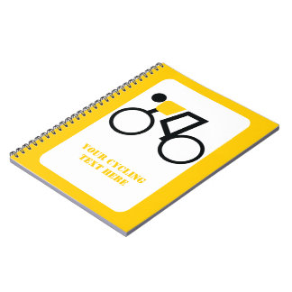 Cyclist riding his bicycle custom note books