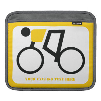 Cyclist riding his bicycle custom sleeve for iPads