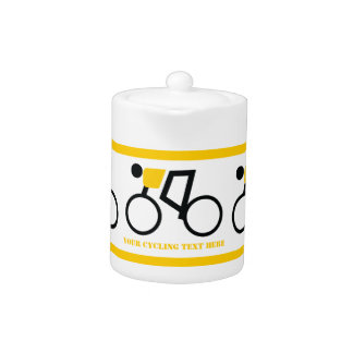 Cyclist riding his bicycle custom teapot