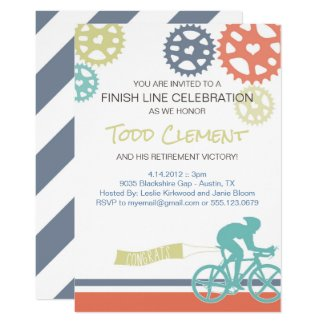 Cyclist Road Bike Invitation