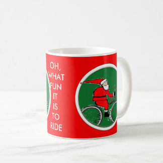 Cyclist Santa Coffee Mug