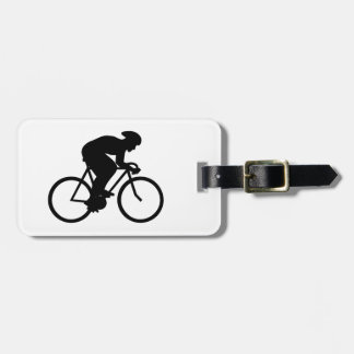 Cyclist Silhouette. Bag Tag