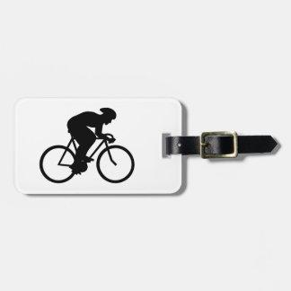Cyclist Silhouette. Bag Tag
