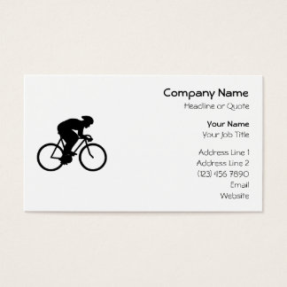 Cyclist Silhouette. Business Card