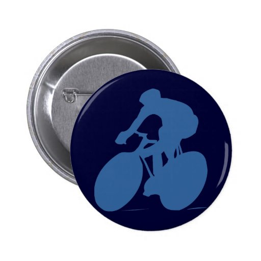 Cyclist Silhouette Button Buttons