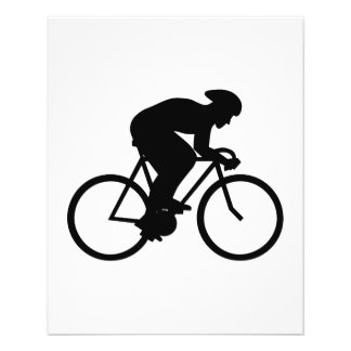 Cyclist Silhouette. Flyer