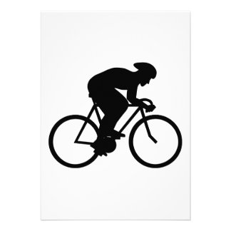 Cyclist Silhouette. Personalized Invitations