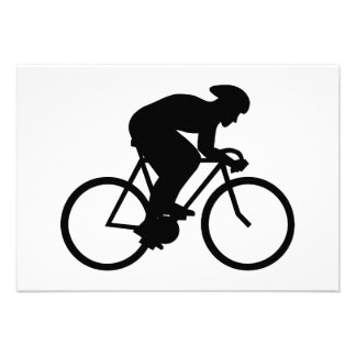 Cyclist Silhouette. Announcements
