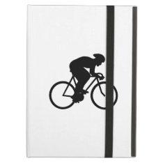 Cyclist Silhouette. Ipad Air Cover at Zazzle