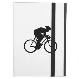 Cyclist Silhouette. iPad Covers