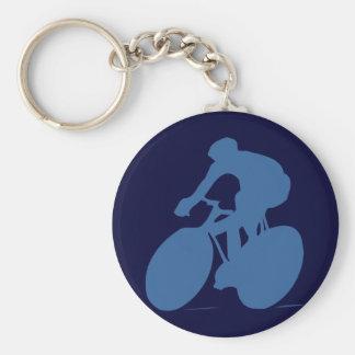 Cyclist Silhouette Key Chain
