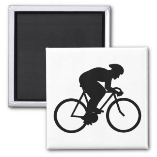 Cyclist Silhouette. Magnets