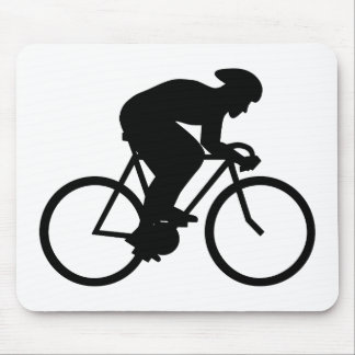 Cyclist Silhouette. Mouse Pad