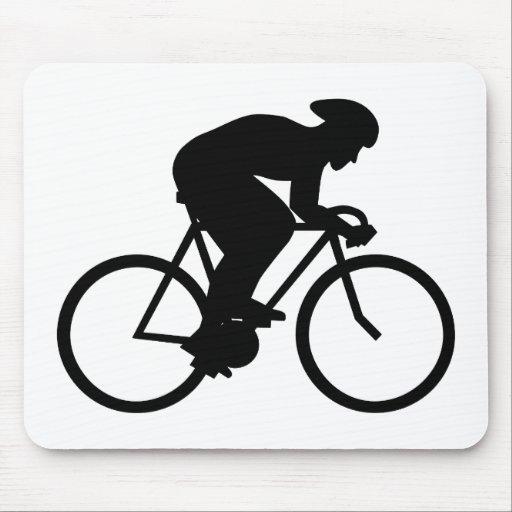 Cyclist Silhouette. Mousepad