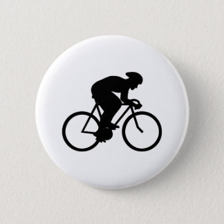 Cyclist Silhouette. Pinback Button