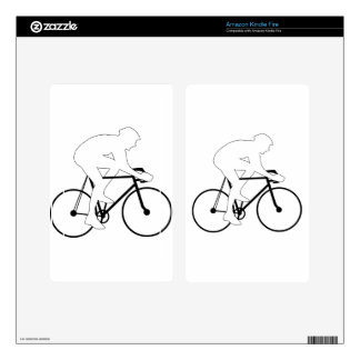 Cyclist Silhouette Skin For Kindle Fire