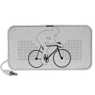 Cyclist Silhouette Laptop Speaker