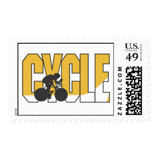 Cyclist Stamp