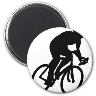 cyclist tour de france racing bike 2 inch round magnet