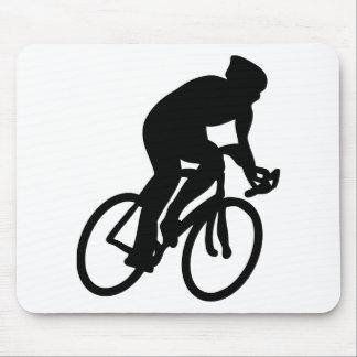 cyclist tour de france racing bike mouse pad