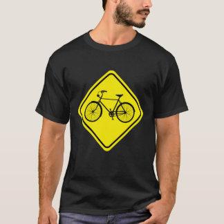 Cyclist Warning Sign T-Shirt