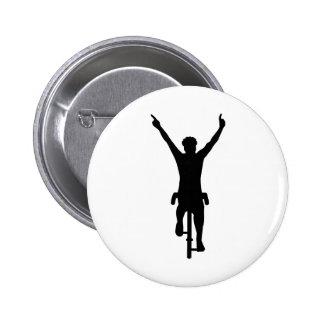 Cyclist winner 2 inch round button