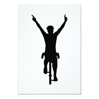 Cyclist winner card