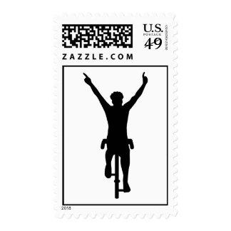 Cyclist winner postage stamp