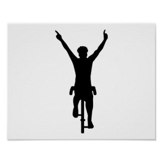 Cyclist winner poster