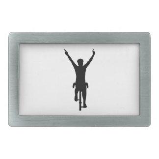 Cyclist winner rectangular belt buckles