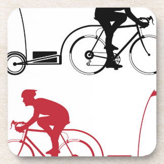 Cyclist with a trailer coaster