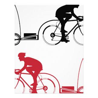 Cyclist with a trailer letterhead