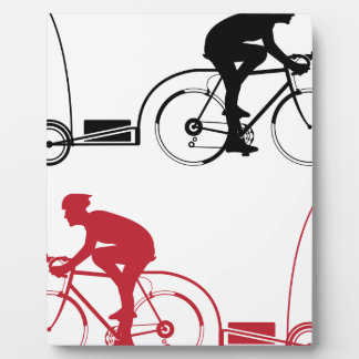 Cyclist with a trailer plaque