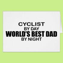 Cyclist World's Best Dad by Night Card