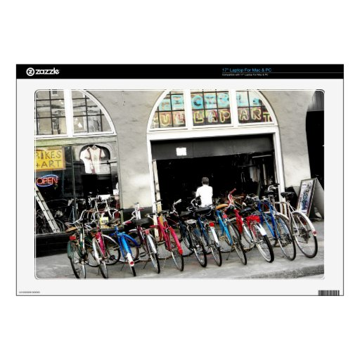 """Cyclists 17"""" Laptop Skins"""