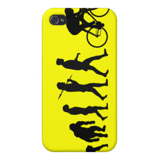 Cyclists Cycling evolution Bicycle Riders Sports iPhone 4/4S Cover