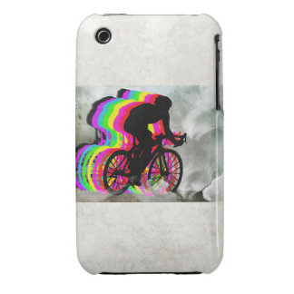 Cyclists Cycling in the Clouds iPhone 3 Case