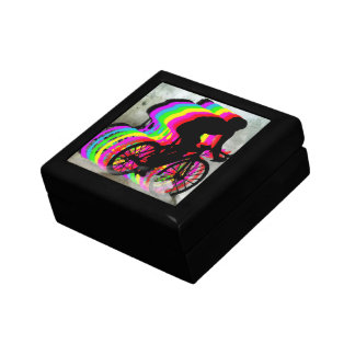 Cyclists Cycling in the Clouds Jewelry Box