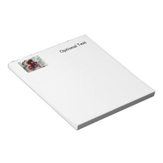 Cyclists Cycling in the Clouds Notepad